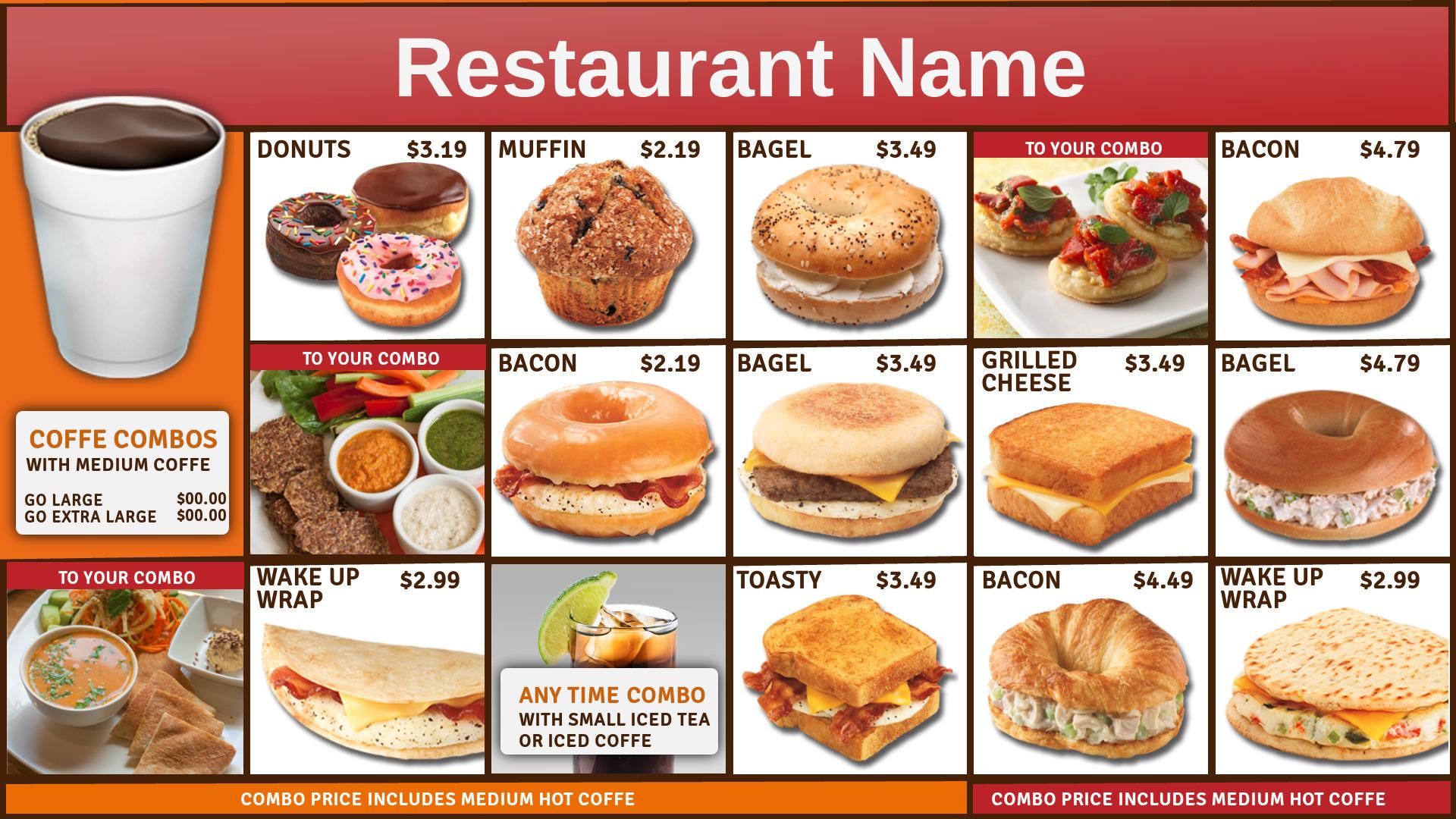 Restaurant Signage Templates