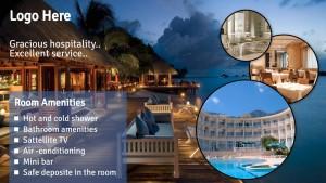 Courteous Hotel Sign (Blue)