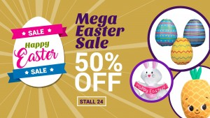 Slick Easter Retail Sign