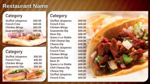 Delectable Mexican Menu (Tan)