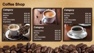 Veracious Coffee Menu (Brown)