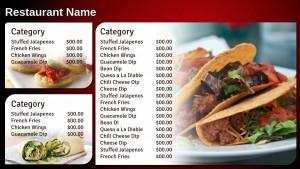 Delectable Mexican Menu (Red)