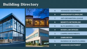 Swank Directory Sign (Blue)