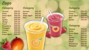 Zealous Juice Menu (Green)