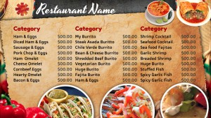 Imagistic Mexican Menu (Brown)