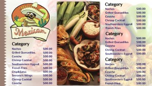 Radiant Mexican Menu (White)