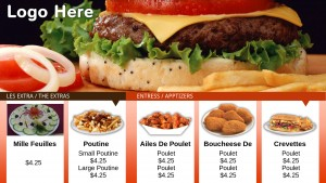 Nimble Fastfood Menu (Orange)