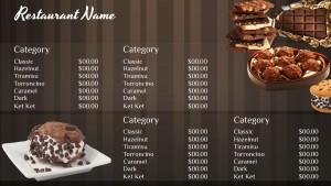 Virtuous Chocolate Menu